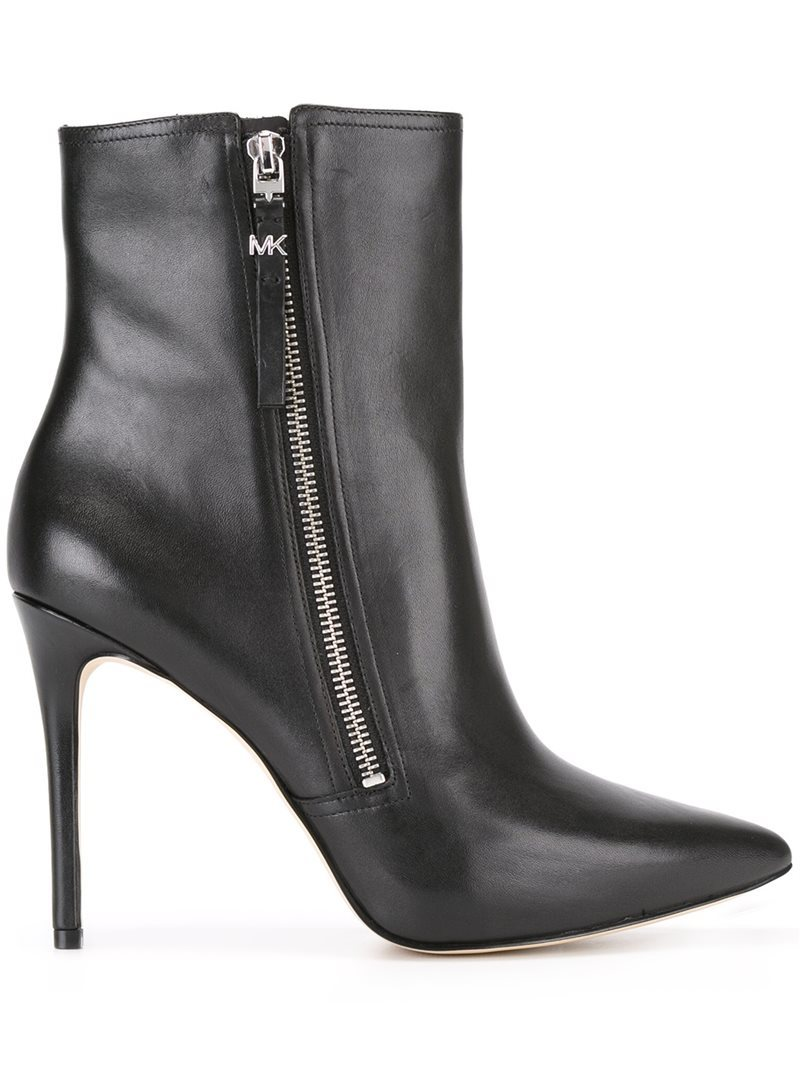 'dawson' Boots, Women's, Black - predominant colour: black; occasions: casual; material: leather; heel height: high; heel: stiletto; toe: pointed toe; boot length: ankle boot; style: standard; finish: plain; pattern: plain; season: a/w 2016; wardrobe: highlight