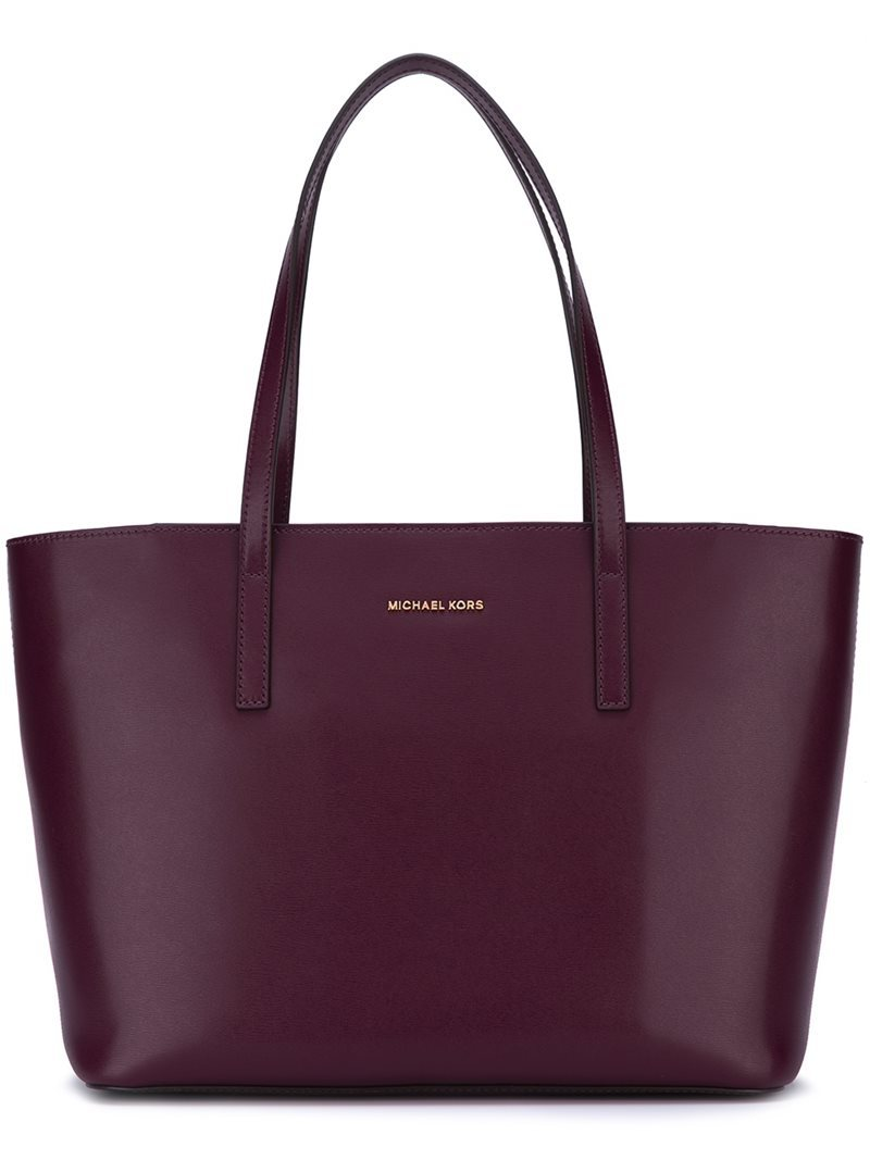Medium 'emry' Tote, Women's, Pink/Purple - predominant colour: aubergine; occasions: casual, work, creative work; type of pattern: standard; style: tote; length: handle; size: standard; material: leather; pattern: plain; finish: plain; season: a/w 2016; wardrobe: highlight