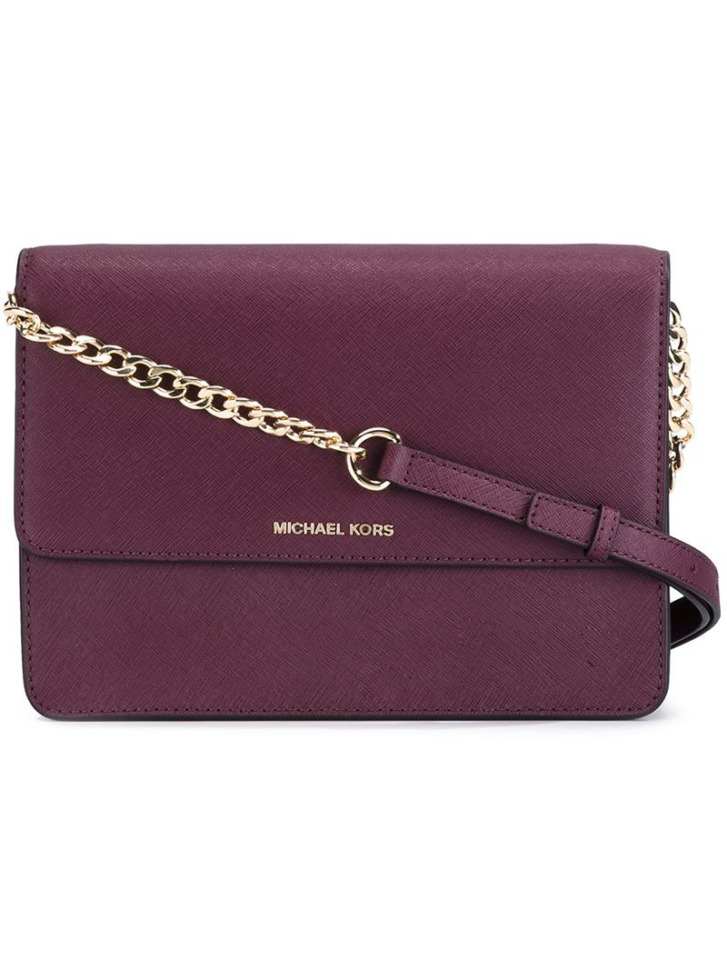 'daniela' Crossbody Bag, Women's, Red - predominant colour: aubergine; secondary colour: gold; occasions: casual, creative work; type of pattern: standard; style: shoulder; length: shoulder (tucks under arm); size: standard; material: leather; pattern: plain; finish: plain; season: a/w 2016; wardrobe: highlight