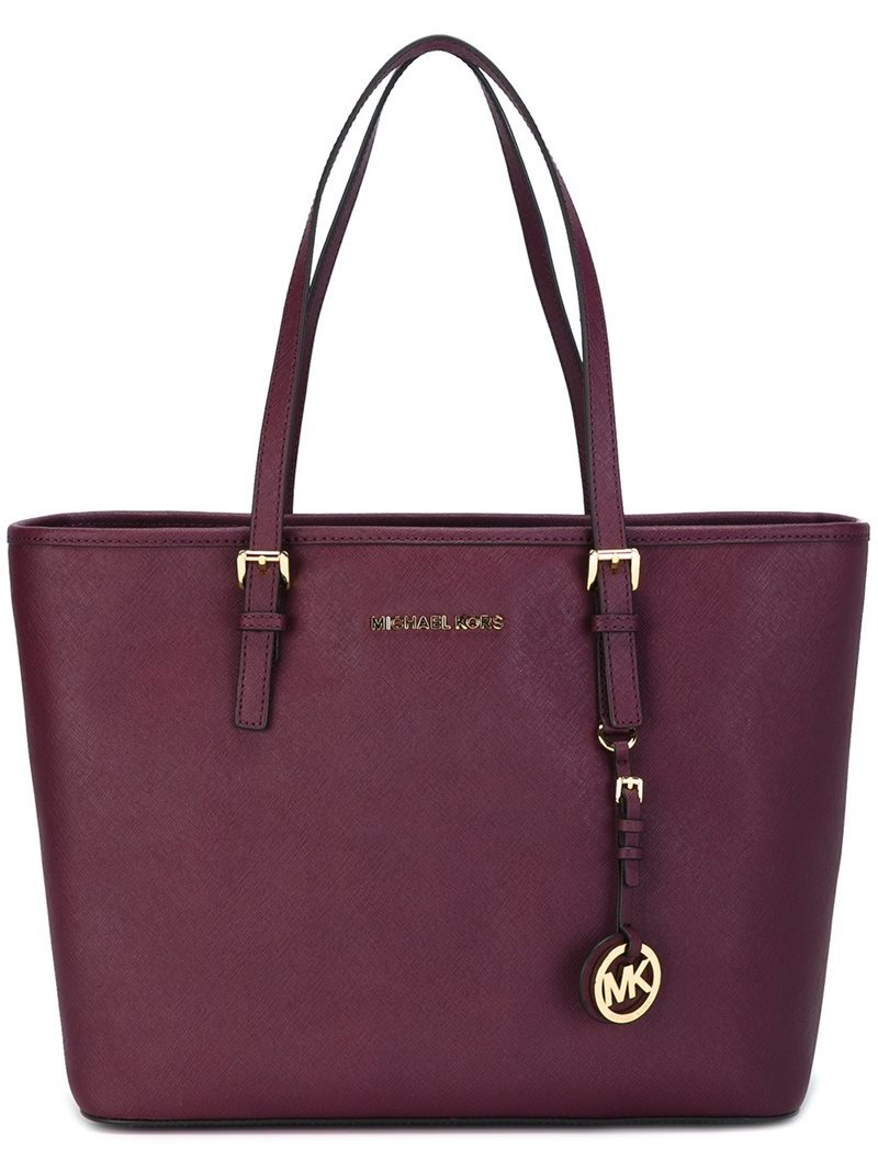 'jet Set Travel' Tote, Women's, Pink/Purple - predominant colour: purple; occasions: casual, work, creative work; type of pattern: standard; style: tote; length: shoulder (tucks under arm); size: oversized; material: leather; pattern: plain; finish: plain; season: a/w 2016; wardrobe: highlight