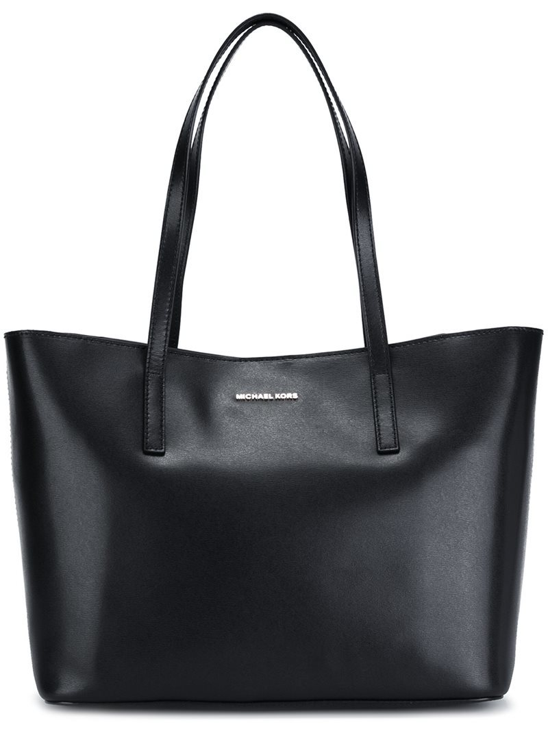 Medium 'emry' Tote, Women's, Black - predominant colour: black; occasions: casual; type of pattern: standard; style: tote; length: shoulder (tucks under arm); size: oversized; material: leather; pattern: plain; finish: plain; wardrobe: investment; season: a/w 2016