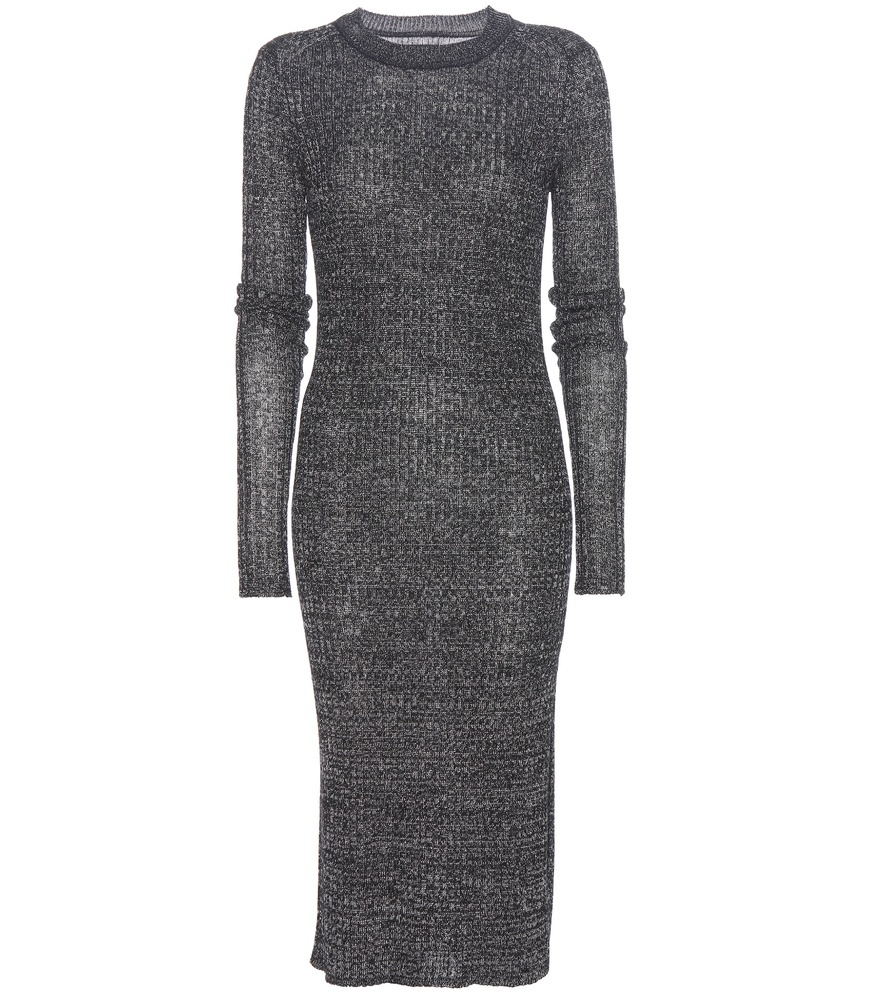 Dakota Linen And Wool Blend Dress - pattern: plain; style: bodycon; predominant colour: charcoal; occasions: evening; length: on the knee; fit: body skimming; fibres: linen - mix; neckline: crew; sleeve length: long sleeve; sleeve style: standard; texture group: knits/crochet; pattern type: fabric; season: a/w 2016