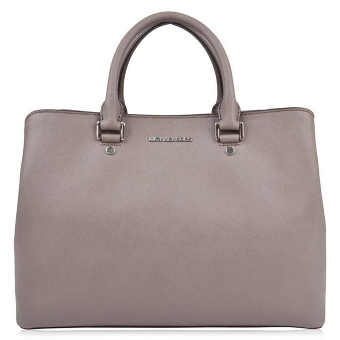 Savannah Tote Bag - predominant colour: light grey; occasions: casual; type of pattern: standard; style: tote; length: handle; size: standard; material: leather; pattern: plain; finish: plain; wardrobe: investment; season: a/w 2016