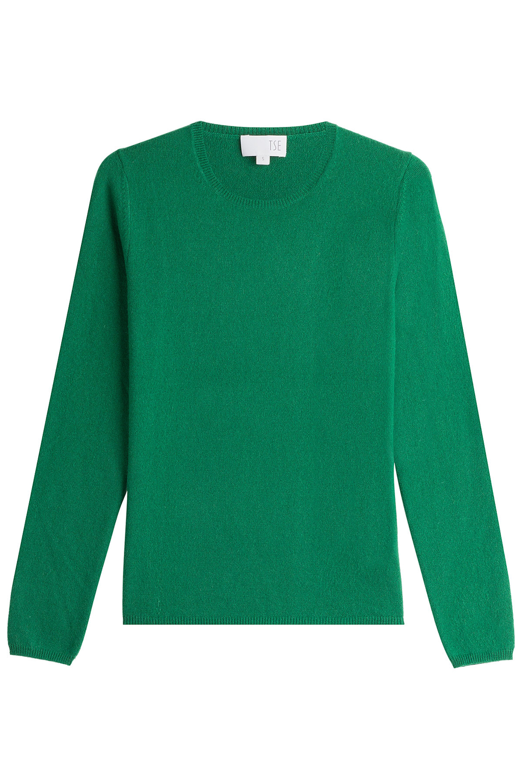 Cashmere Pullover - pattern: plain; style: standard; predominant colour: emerald green; occasions: casual; length: standard; fit: slim fit; neckline: crew; fibres: cashmere - 100%; sleeve length: long sleeve; sleeve style: standard; texture group: knits/crochet; pattern type: knitted - fine stitch; season: a/w 2016; wardrobe: highlight