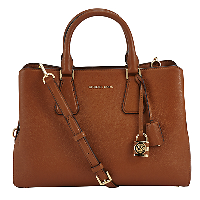 Camille Large Leather Satchel - predominant colour: tan; occasions: work, creative work; type of pattern: standard; style: tote; length: handle; size: standard; material: leather; pattern: plain; finish: plain; season: a/w 2016