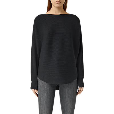 Esia Jumper - neckline: slash/boat neckline; sleeve style: dolman/batwing; pattern: plain; style: standard; predominant colour: black; occasions: casual, creative work; length: standard; fibres: wool - mix; fit: loose; sleeve length: long sleeve; texture group: knits/crochet; pattern type: knitted - fine stitch; wardrobe: basic; season: a/w 2016
