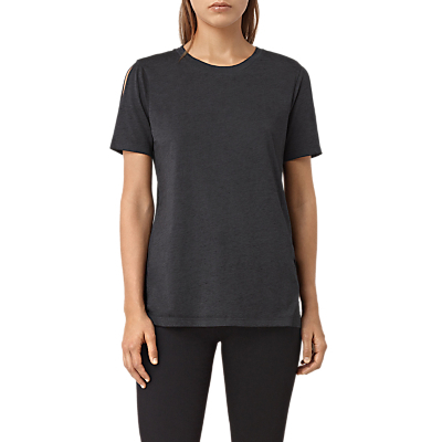 Devo T Shirt - pattern: plain; style: t-shirt; predominant colour: navy; occasions: casual, creative work; length: standard; fibres: cotton - mix; fit: body skimming; neckline: crew; sleeve length: short sleeve; sleeve style: standard; texture group: jersey - clingy; pattern type: fabric; wardrobe: basic; season: a/w 2016