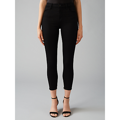 Maria Rise Ankle Crop Skinny Jeans, Black - style: skinny leg; pattern: plain; pocket detail: traditional 5 pocket; waist: mid/regular rise; predominant colour: black; occasions: casual, evening, creative work; length: calf length; fibres: cotton - stretch; texture group: denim; pattern type: fabric; wardrobe: basic; season: a/w 2016