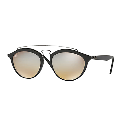 Rb4257 Oval Sunglasses - predominant colour: black; occasions: casual, holiday; style: round; size: standard; material: plastic/rubber; pattern: plain; finish: plain; wardrobe: basic; season: a/w 2016
