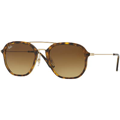 Rb4273 Square Sunglasses - predominant colour: tan; occasions: casual, holiday; style: square; size: large; material: plastic/rubber; pattern: tortoiseshell; finish: plain; season: a/w 2016; wardrobe: highlight