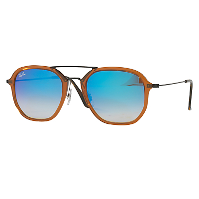 Rb4273 Square Sunglasses - secondary colour: turquoise; predominant colour: mustard; occasions: casual, holiday; style: square; size: large; material: plastic/rubber; pattern: plain; finish: plain; season: a/w 2016; wardrobe: highlight