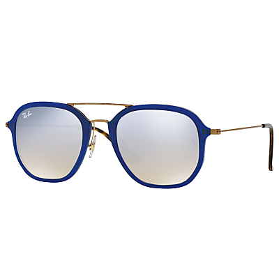 Rb4273 Square Sunglasses - predominant colour: royal blue; secondary colour: silver; occasions: casual, holiday; style: square; size: large; material: plastic/rubber; pattern: plain; finish: plain; season: a/w 2016; wardrobe: highlight