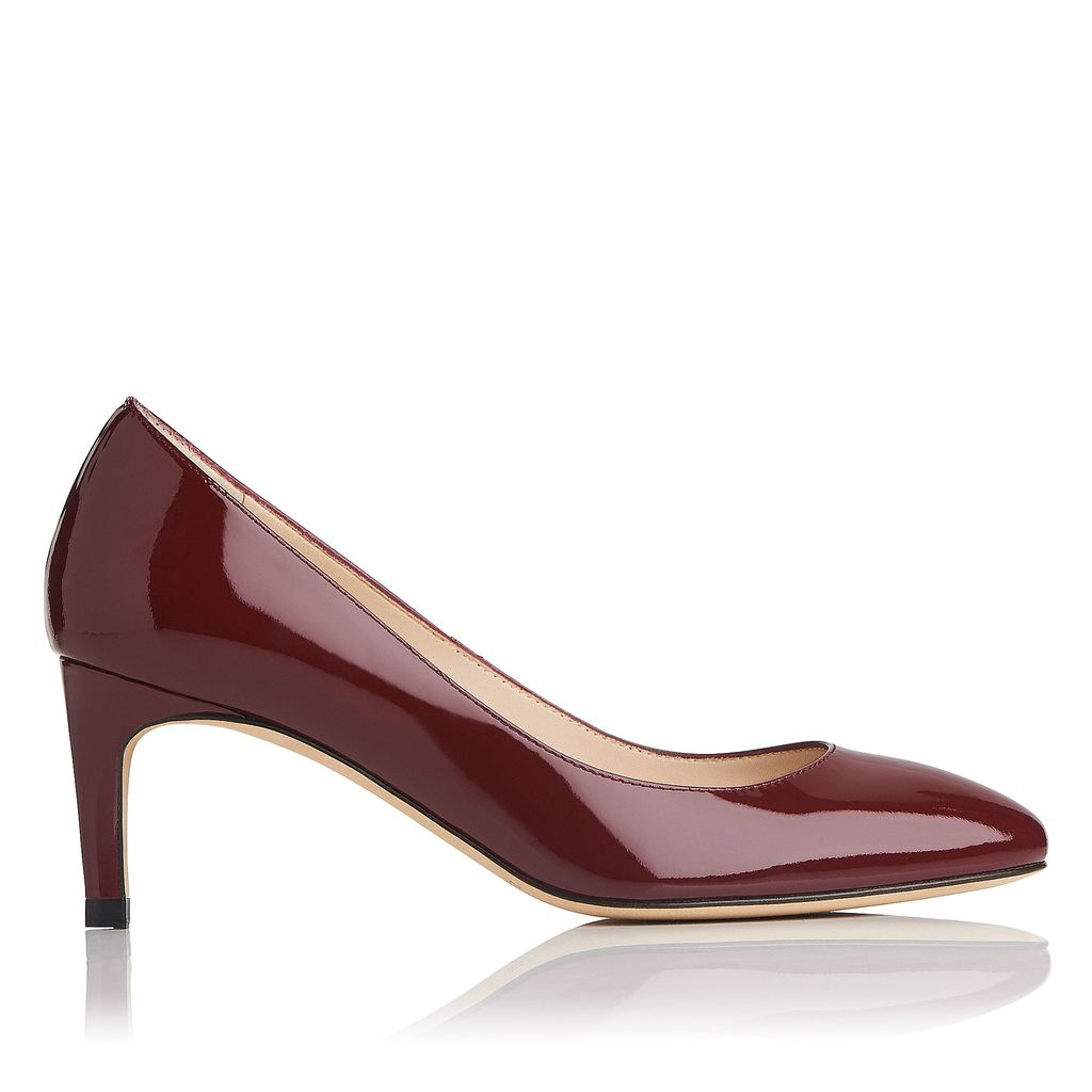 Sash Closed Courts, Red - predominant colour: burgundy; occasions: evening, work, occasion; material: leather; heel height: mid; heel: stiletto; toe: pointed toe; style: courts; finish: patent; pattern: plain; season: a/w 2016; wardrobe: highlight