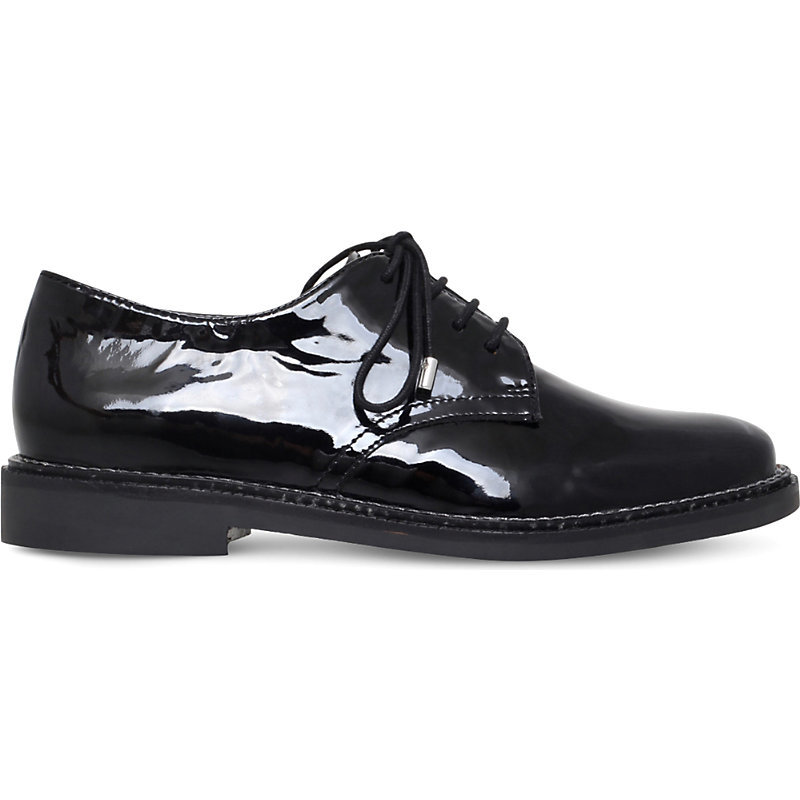 Kidd Patent Derby Brogues, Women's, Eur 40 / 7 Uk Women, Black - predominant colour: black; occasions: casual, work, creative work; material: leather; heel height: flat; toe: round toe; finish: patent; pattern: plain; style: lace ups; wardrobe: basic; season: a/w 2016