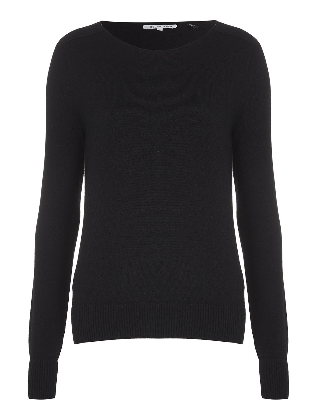 Seamless Sweater - neckline: round neck; pattern: plain; length: below the bottom; style: standard; predominant colour: black; occasions: casual, work, creative work; fibres: wool - 100%; fit: standard fit; sleeve length: long sleeve; sleeve style: standard; texture group: knits/crochet; pattern type: knitted - fine stitch; pattern size: standard; wardrobe: basic; season: a/w 2016