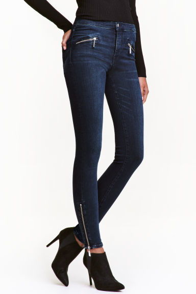 Shaping Skinny Ankle Jeans - style: skinny leg; length: standard; pattern: plain; pocket detail: traditional 5 pocket; waist: mid/regular rise; predominant colour: navy; occasions: casual; fibres: cotton - stretch; texture group: denim; pattern type: fabric; wardrobe: basic; season: a/w 2016