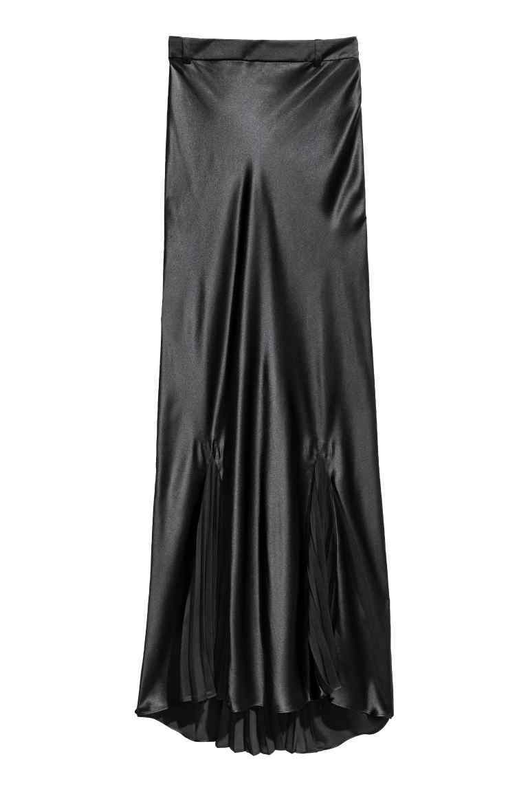 Long Silk Skirt - pattern: plain; waist: mid/regular rise; fit: bias; predominant colour: black; occasions: evening; length: floor length; style: maxi skirt; fibres: silk - 100%; texture group: silky - light; pattern type: fabric; season: a/w 2016; wardrobe: event