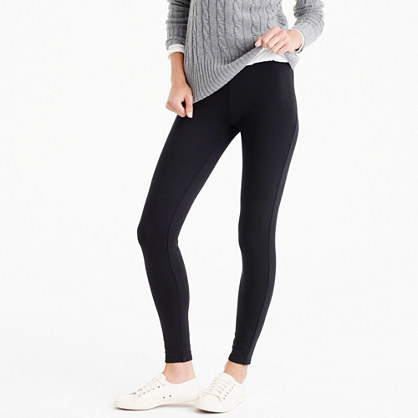Cozy Leggings - length: standard; pattern: plain; style: leggings; waist: high rise; predominant colour: black; occasions: casual; fibres: cotton - stretch; texture group: jersey - clingy; fit: skinny/tight leg; pattern type: fabric; season: a/w 2016