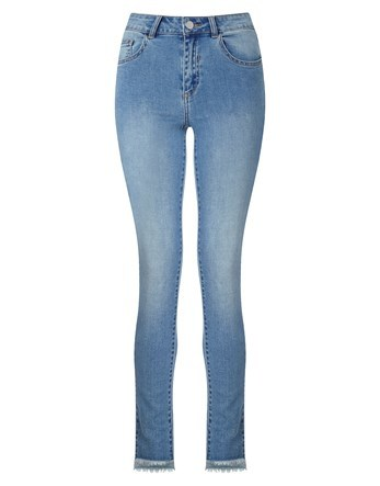 Mid Wash Super Skinny Jeans - style: skinny leg; length: standard; pattern: plain; pocket detail: traditional 5 pocket; waist: mid/regular rise; predominant colour: denim; occasions: casual, creative work; fibres: cotton - stretch; texture group: denim; pattern type: fabric; wardrobe: basic; season: a/w 2016