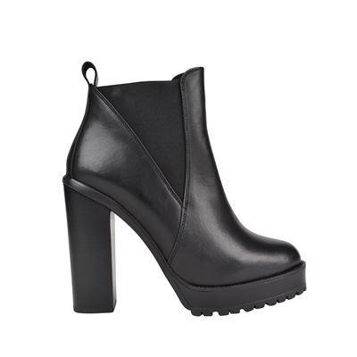 Skye Chunky Ankle Boots - predominant colour: black; occasions: casual; material: leather; heel: block; toe: round toe; boot length: ankle boot; style: standard; finish: plain; pattern: plain; heel height: very high; season: a/w 2016; wardrobe: highlight