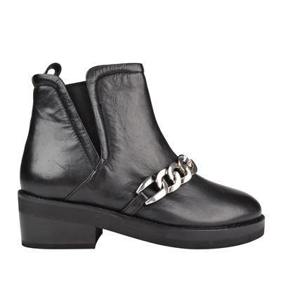 Salvation Ankle Boots - predominant colour: black; occasions: casual; material: leather; heel height: mid; heel: block; toe: round toe; boot length: ankle boot; style: standard; finish: plain; pattern: plain; wardrobe: basic; season: a/w 2016