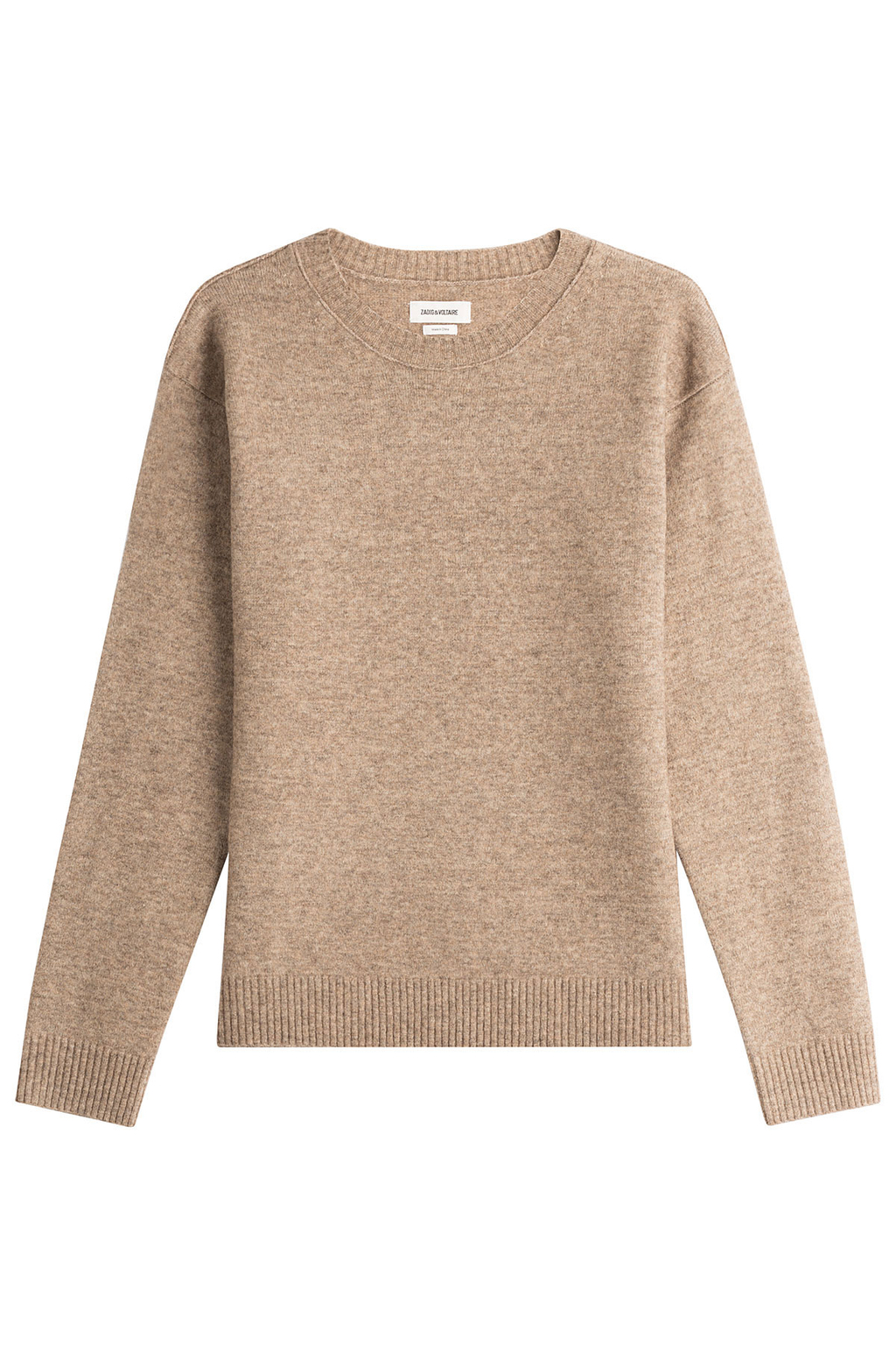 Pullover With Wool And Yak - pattern: plain; style: standard; predominant colour: stone; occasions: casual; length: standard; fibres: wool - mix; fit: standard fit; neckline: crew; sleeve length: long sleeve; sleeve style: standard; texture group: knits/crochet; pattern type: knitted - fine stitch; wardrobe: basic; season: a/w 2016