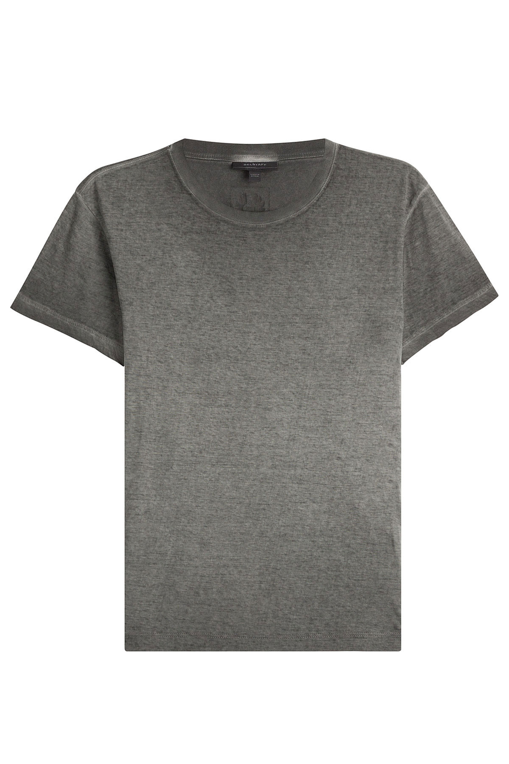 Cotton T Shirt - pattern: plain; style: t-shirt; predominant colour: mid grey; occasions: casual; length: standard; fibres: cotton - 100%; fit: body skimming; neckline: crew; sleeve length: short sleeve; sleeve style: standard; pattern type: fabric; texture group: jersey - stretchy/drapey; wardrobe: basic; season: a/w 2016