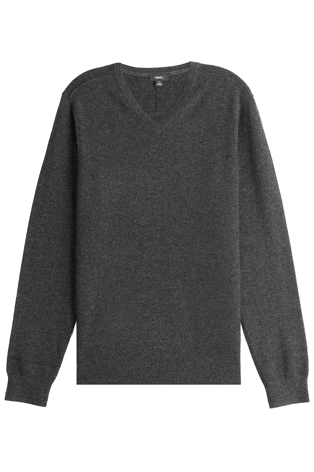Cashmere Pullover - neckline: v-neck; pattern: plain; style: standard; predominant colour: charcoal; occasions: casual; length: standard; fit: standard fit; fibres: cashmere - 100%; sleeve length: long sleeve; sleeve style: standard; texture group: knits/crochet; pattern type: knitted - fine stitch; wardrobe: investment; season: a/w 2016