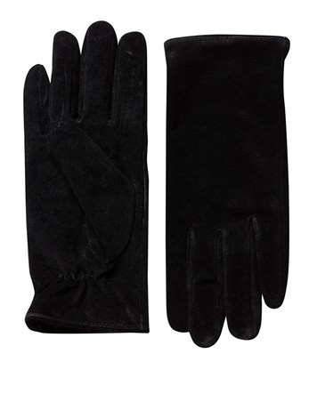 Suede Gloves - predominant colour: black; occasions: casual; type of pattern: standard; style: standard; length: wrist; pattern: plain; material: suede; season: a/w 2016