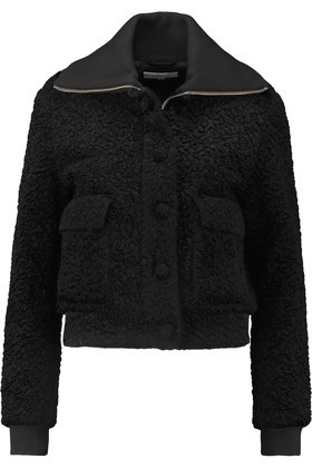 Faux Shearling Coat Black - pattern: plain; length: standard; collar: wide lapels; fit: loose; predominant colour: black; occasions: casual; fibres: polyester/polyamide - mix; style: fur coat; sleeve length: long sleeve; sleeve style: standard; collar break: high; pattern type: fabric; texture group: woven bulky/heavy; season: a/w 2016