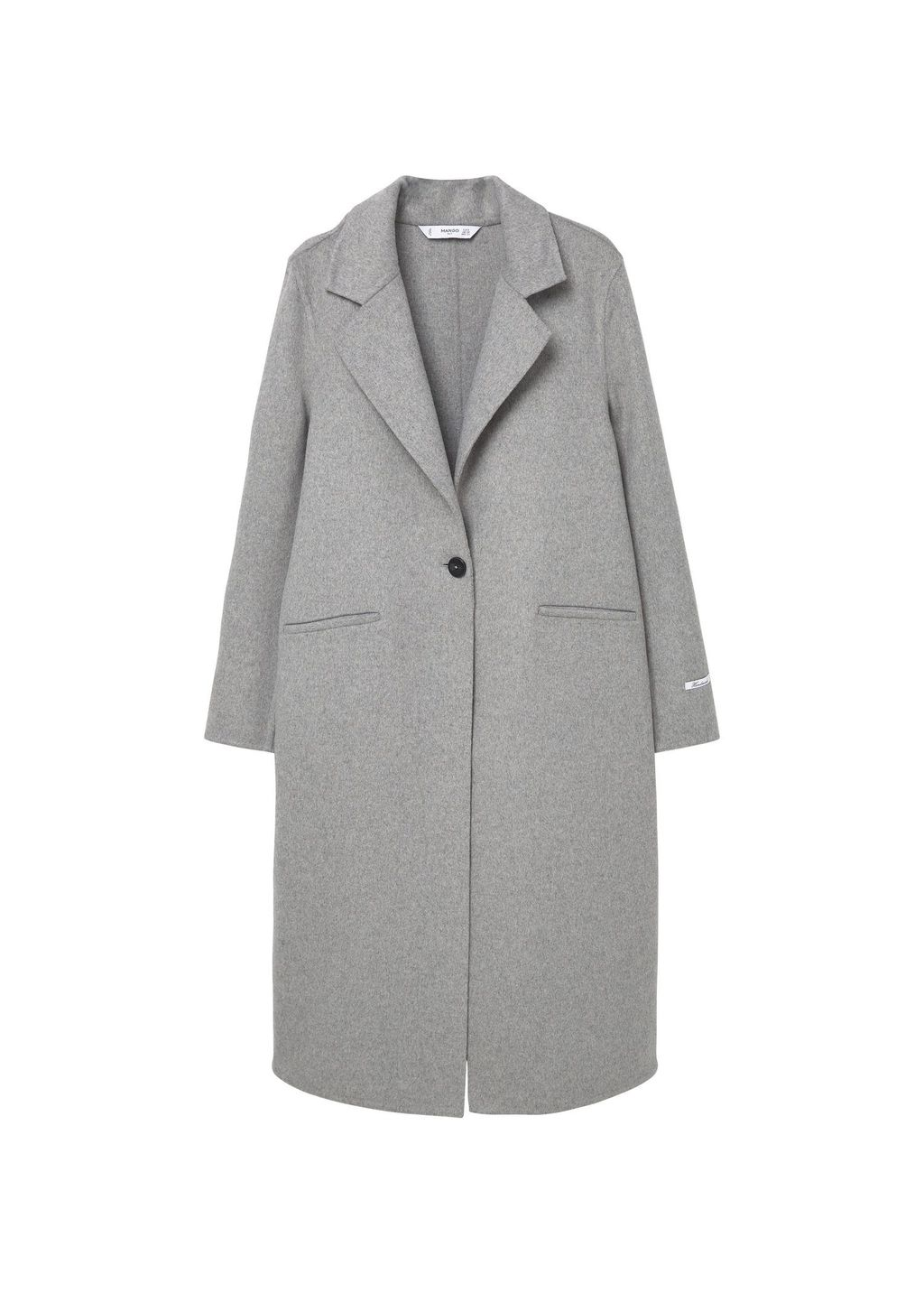 Handmade Wool Coat, Grey - pattern: plain; length: below the bottom; style: single breasted; collar: standard lapel/rever collar; predominant colour: light grey; occasions: casual; fit: tailored/fitted; fibres: wool - 100%; sleeve length: long sleeve; sleeve style: standard; collar break: medium; pattern type: fabric; texture group: woven bulky/heavy; wardrobe: basic; season: a/w 2016