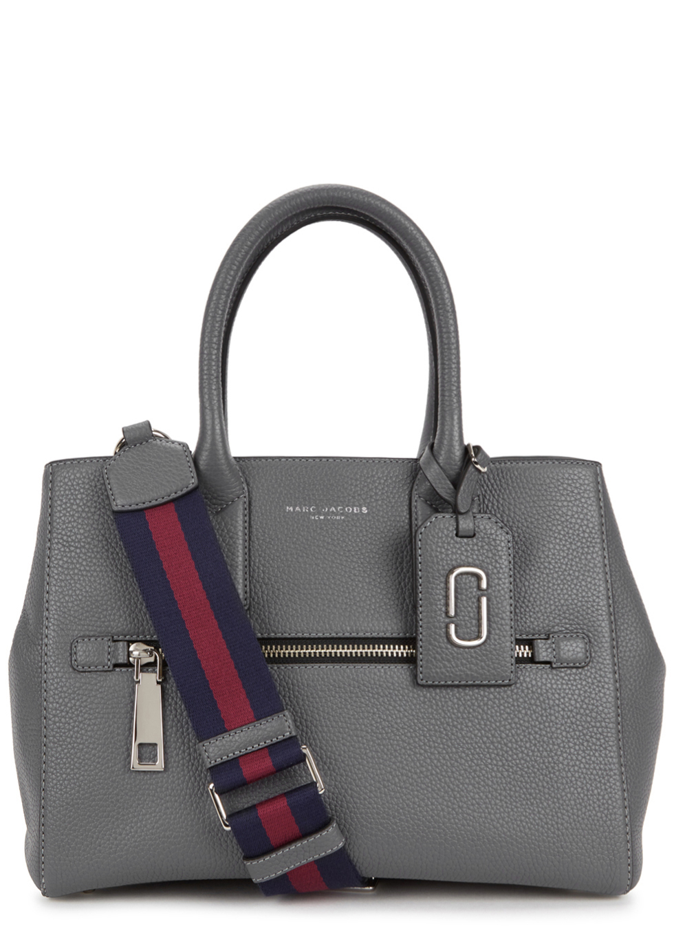 Gotham City Grey Grained Leather Tote - predominant colour: mid grey; occasions: casual, work, creative work; type of pattern: standard; style: tote; length: shoulder (tucks under arm); size: standard; material: leather; pattern: plain; finish: plain; multicoloured: multicoloured; season: a/w 2016