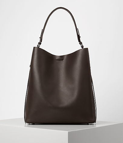 Paradise North South Tote - predominant colour: chocolate brown; occasions: casual, work, creative work; type of pattern: standard; style: tote; length: handle; size: oversized; material: leather; pattern: plain; finish: plain; wardrobe: investment; season: a/w 2016