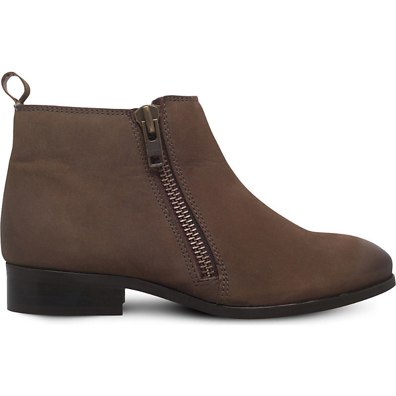 Spitfire Zip Up Leather Boots, Women's, Eur 38 / 5 Uk Women, Brown - predominant colour: chocolate brown; occasions: casual; material: leather; heel height: flat; heel: block; toe: round toe; boot length: ankle boot; style: standard; finish: plain; pattern: plain; wardrobe: basic; season: a/w 2016