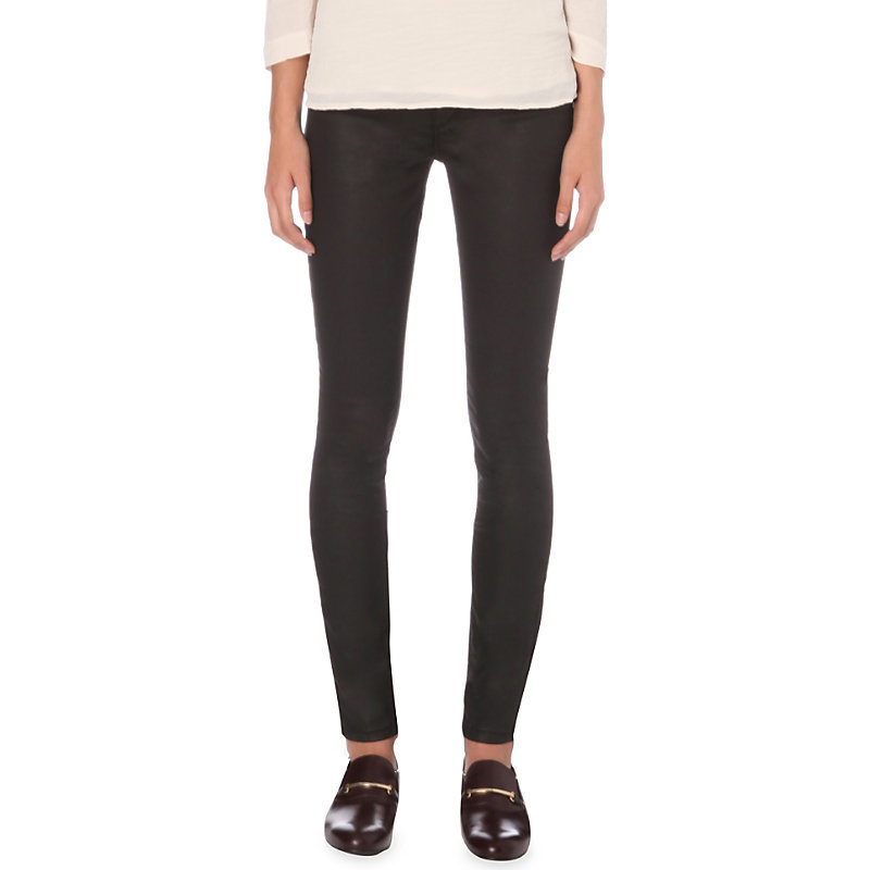 Paddy Skinny Mid Rise Jeans, Women's, Noir - style: skinny leg; length: standard; pattern: plain; pocket detail: traditional 5 pocket; waist: mid/regular rise; predominant colour: black; occasions: casual; fibres: cotton - stretch; texture group: denim; pattern type: fabric; wardrobe: basic; season: a/w 2016