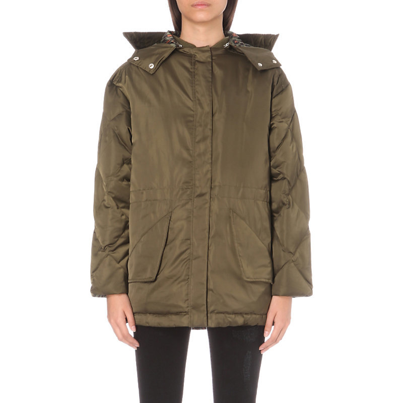 Starman Shell Coat, Women's, Kaki - pattern: plain; length: below the bottom; fit: loose; style: parka; back detail: hood; collar: high neck; predominant colour: khaki; occasions: casual; fibres: polyester/polyamide - 100%; sleeve length: long sleeve; sleeve style: standard; texture group: technical outdoor fabrics; collar break: high; pattern type: fabric; wardrobe: basic; season: a/w 2016