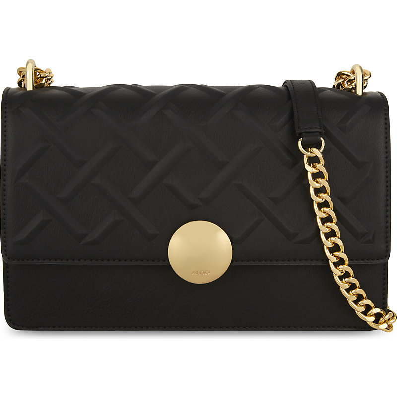 Pygmy Shoulder Bag, Women's, Black - secondary colour: gold; predominant colour: black; occasions: casual, work, creative work; type of pattern: standard; style: shoulder; length: shoulder (tucks under arm); size: small; material: fabric; pattern: plain; finish: plain; embellishment: chain/metal; wardrobe: investment; season: a/w 2016