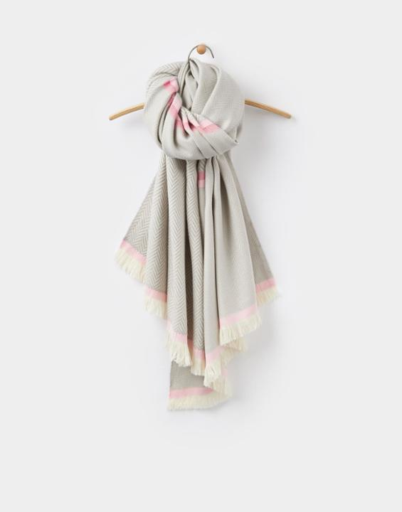 Grey Herringbone Twill Twilby Herringbone Scarf Size One Size | Uk - predominant colour: light grey; occasions: casual; type of pattern: standard; style: regular; size: large; material: fabric; pattern: herringbone/tweed; multicoloured: multicoloured; season: a/w 2016; wardrobe: highlight