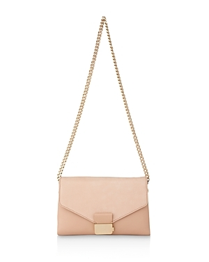 Artesia Pushlock Convertible Clutch - predominant colour: nude; secondary colour: gold; occasions: evening, occasion; type of pattern: standard; style: clutch; length: across body/long; size: standard; material: leather; pattern: plain; finish: plain; season: a/w 2016; wardrobe: event