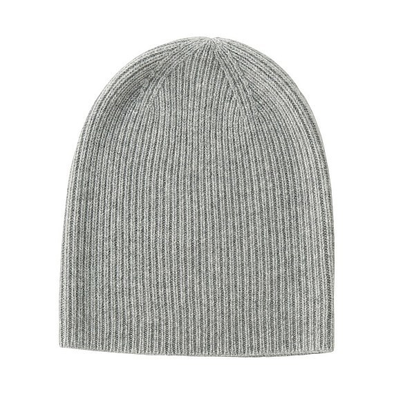 100% Cashmere Beanie Light Gray - predominant colour: light grey; occasions: casual; type of pattern: standard; style: beanie; size: standard; material: knits; pattern: plain; wardrobe: basic; season: a/w 2016