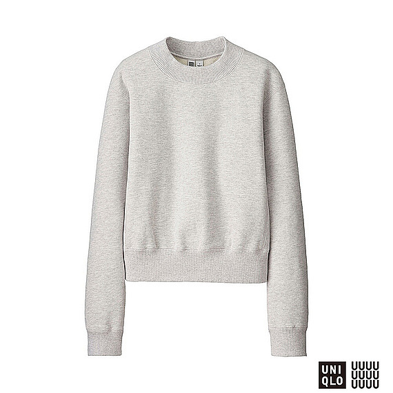 Women U Sweat Pullover (Size Xs) Gray - neckline: round neck; pattern: plain; style: sweat top; predominant colour: light grey; occasions: casual; length: standard; fibres: cotton - mix; fit: straight cut; sleeve length: short sleeve; sleeve style: standard; pattern type: fabric; pattern size: standard; texture group: jersey - stretchy/drapey; wardrobe: basic; season: a/w 2016