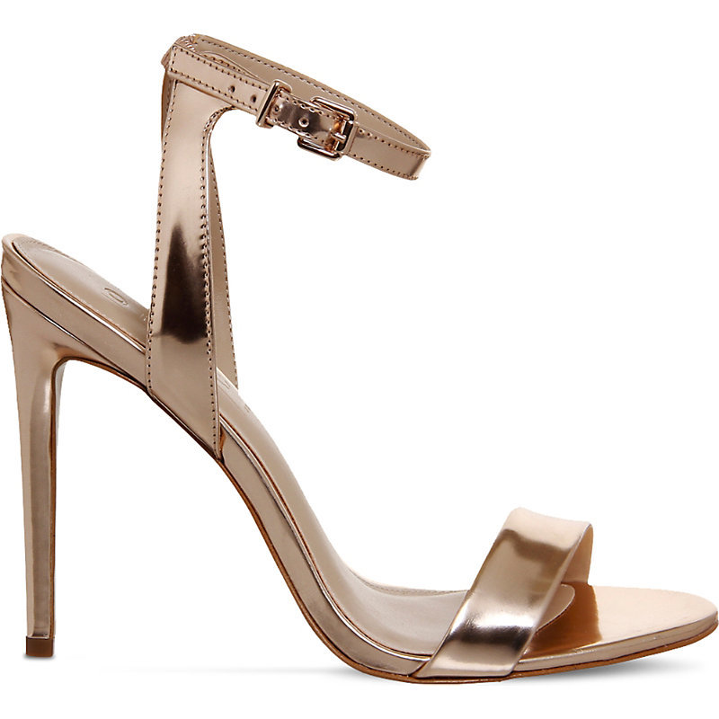 Alana Metallic Leather Sandals, Women's, Rose Gold Leather - predominant colour: gold; occasions: evening, occasion; material: leather; ankle detail: ankle strap; heel: kitten; toe: open toe/peeptoe; style: strappy; finish: metallic; pattern: plain; heel height: very high; season: a/w 2016; wardrobe: event