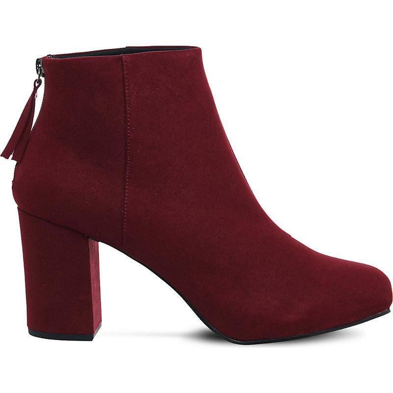 Light Bulb Suede Platform Boots, Women's, Maroon - predominant colour: burgundy; occasions: casual; material: suede; heel height: high; heel: block; toe: round toe; boot length: ankle boot; style: standard; finish: plain; pattern: plain; season: a/w 2016
