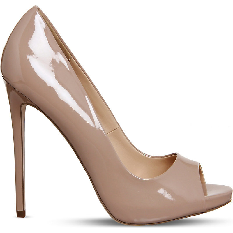 Notebook Patent Platform Courts, Women's, Nude Patent - predominant colour: nude; occasions: evening, occasion; material: faux leather; heel: stiletto; toe: open toe/peeptoe; style: courts; finish: patent; pattern: plain; heel height: very high; season: a/w 2016; wardrobe: event