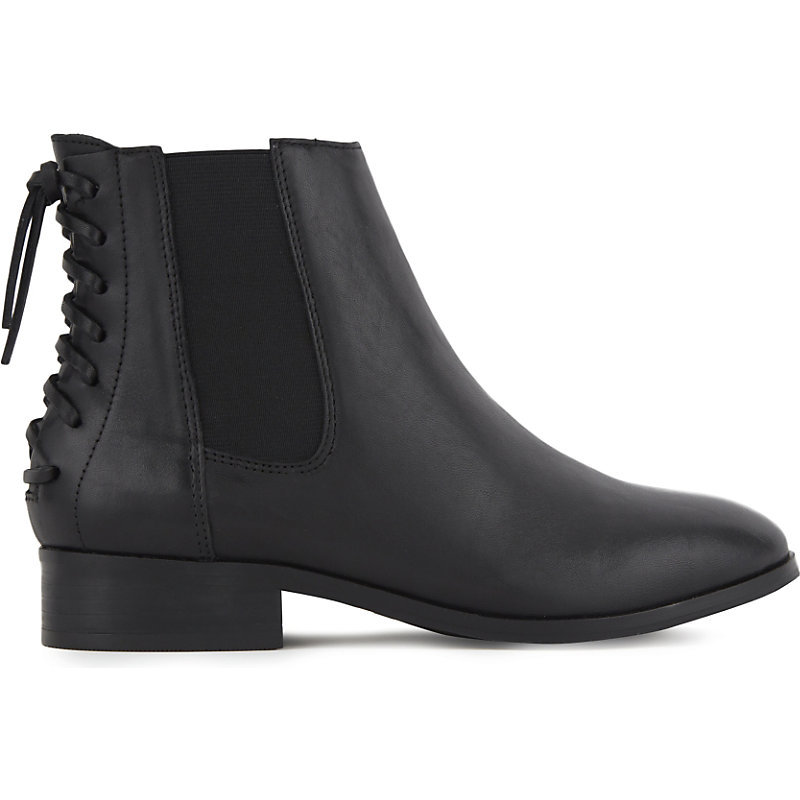 Boudinot Leather Chelsea Boots, Women's, Eur 41 / 8 Uk Women, Black Leather - predominant colour: black; occasions: casual; material: leather; heel height: flat; heel: block; toe: round toe; boot length: ankle boot; style: standard; finish: plain; pattern: plain; season: a/w 2016