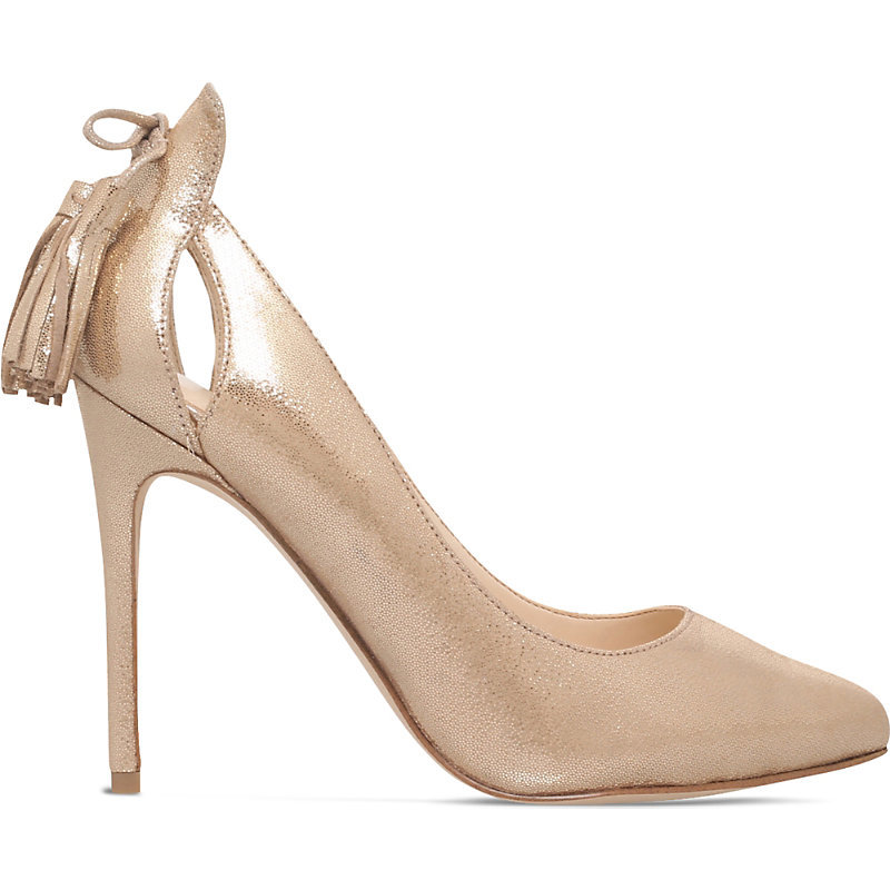 Gold Erienne, Women's, Eur 38 / 5 Uk Women - predominant colour: gold; occasions: evening; material: leather; heel: stiletto; toe: pointed toe; style: courts; finish: metallic; pattern: plain; heel height: very high; season: a/w 2016; wardrobe: event