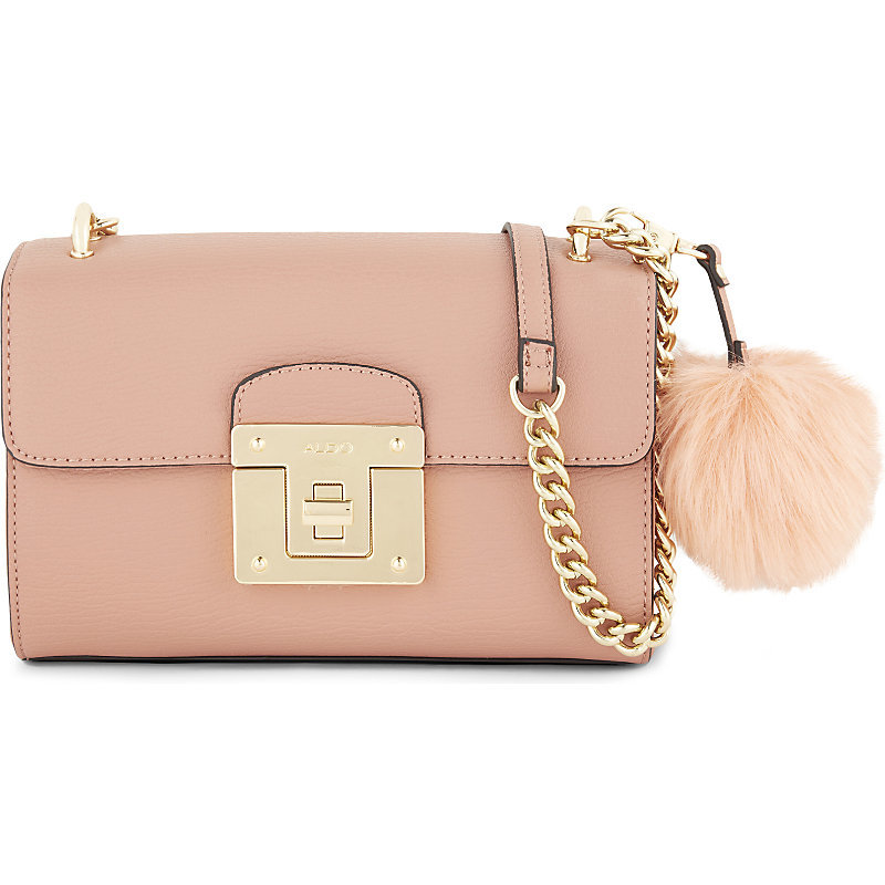 Chirade Shoulder Bag, Adult Unisex, Pink Miscellaneous - predominant colour: nude; occasions: casual, creative work; type of pattern: standard; style: shoulder; length: across body/long; size: standard; material: faux leather; pattern: plain; finish: plain; embellishment: pompom; wardrobe: investment; season: a/w 2016