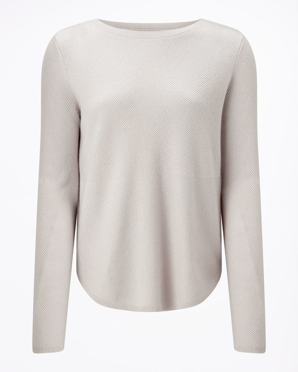 Surrealist Cashmere Jumper - neckline: slash/boat neckline; pattern: plain; style: standard; predominant colour: stone; occasions: casual, work, creative work; length: standard; fit: standard fit; fibres: cashmere - 100%; sleeve length: long sleeve; sleeve style: standard; texture group: knits/crochet; pattern type: knitted - fine stitch; wardrobe: investment; season: a/w 2016