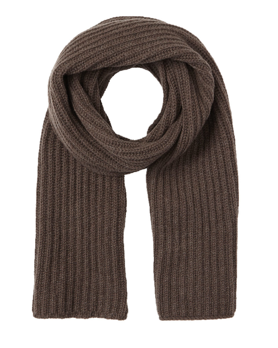 Sian Chunky Rib Knit Scarf - predominant colour: chocolate brown; occasions: casual; type of pattern: standard; style: regular; size: standard; material: knits; pattern: plain; wardrobe: basic; season: a/w 2016