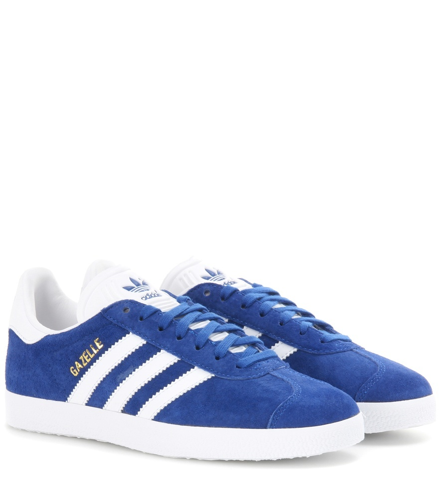 Gazelle Suede Sneakers - secondary colour: white; predominant colour: diva blue; occasions: casual; material: suede; heel height: flat; toe: round toe; style: trainers; finish: plain; pattern: colourblock; season: a/w 2016